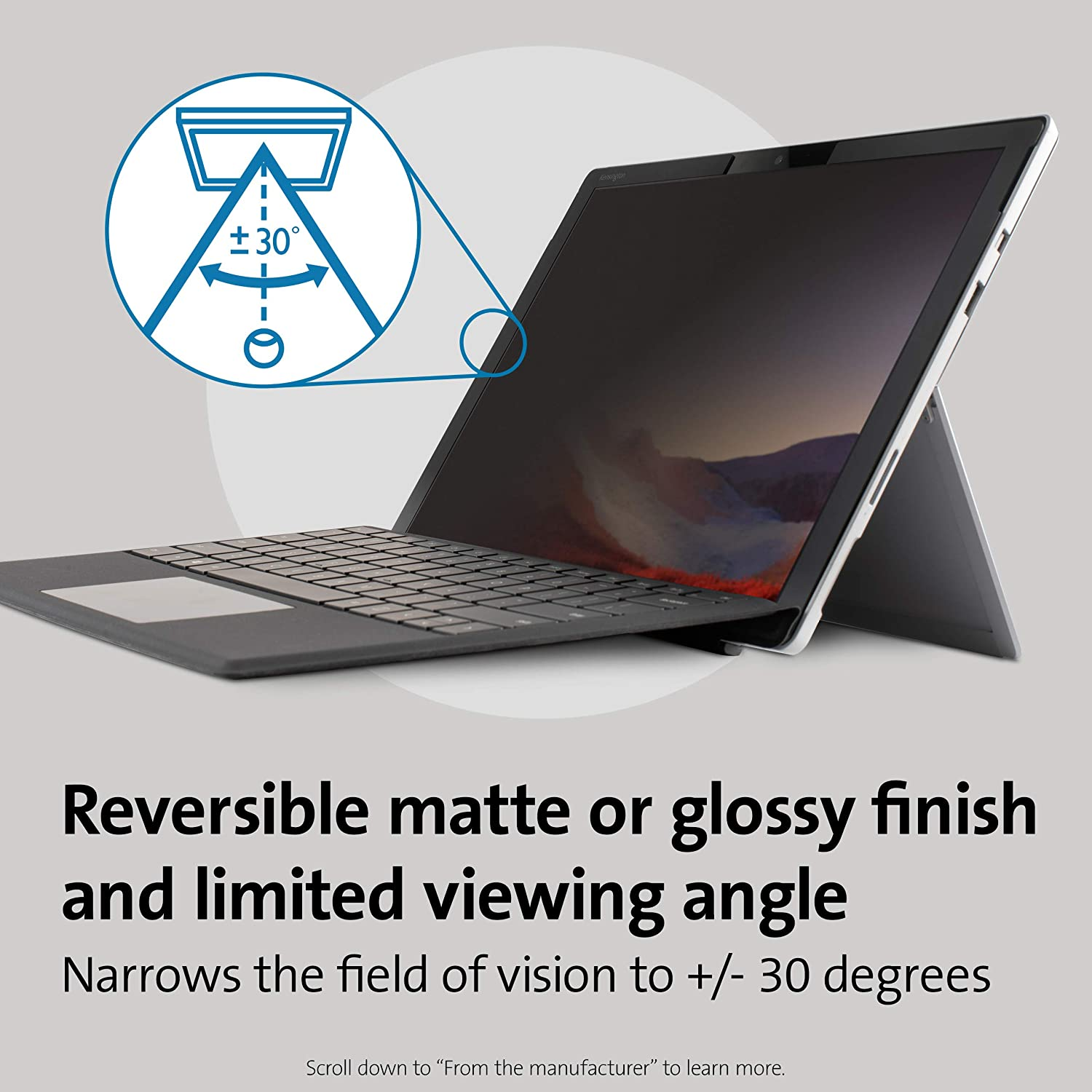 K50730WW /& 4 6 5 Kensington Surface Pro Privacy Screen Filter MagPro Elite Magnetic Privacy Screen for Surface Pro 7