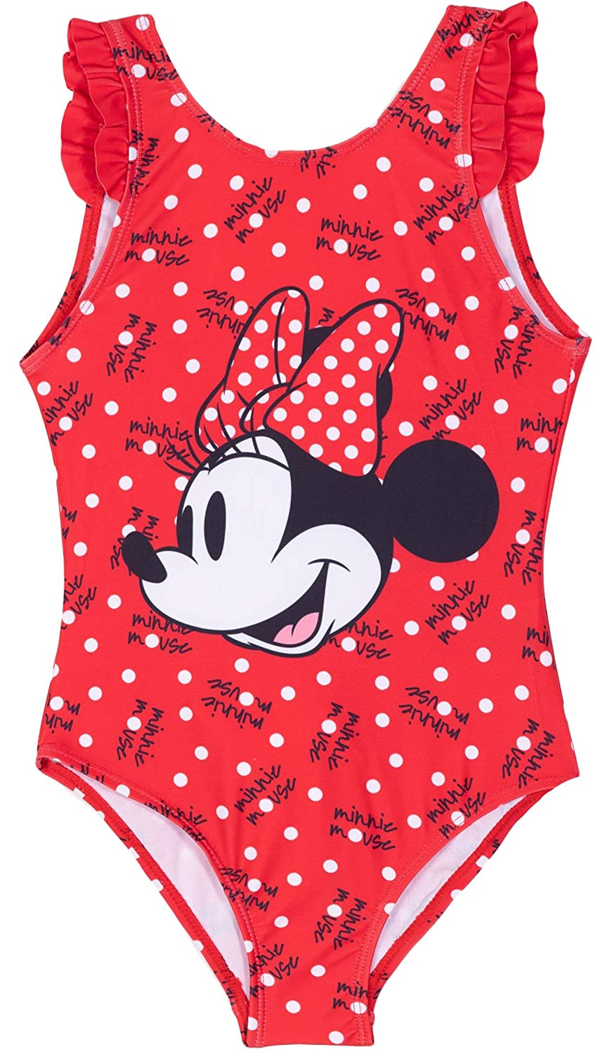 Official Disney Baby Minnie Mouse Swimming Costume Swimsuit Swimwear 12Mths-3yrs