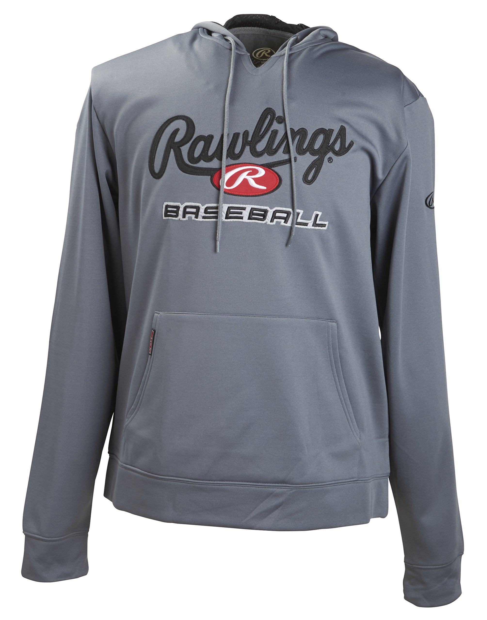 Rawlings Men's Fleece Hoodie, Graphite, Medium by Rawlings (Image #1)