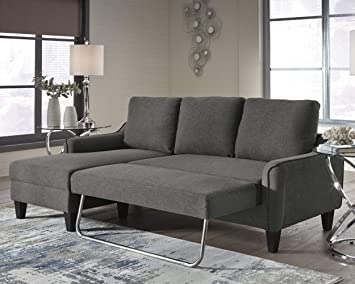 Signature Design By Ashley Jarreau Contemporary Upholstered Sofa Chaise Sleeper Gray Furniture Decor Amazon Com
