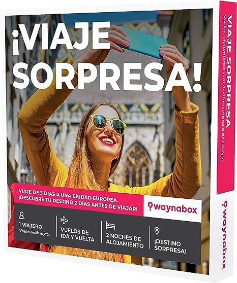 Waynabox Caja Regalo ¡Viaje Sorpresa! Vuelos + 2 Noches en una ...