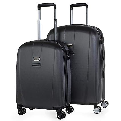 JASLEN - Juego de Maletas de Viaje Rígidas 4 Ruedas Trolley 55/66 cm ABS. Duraderas Resistentes y Ligeras. Candado TSA. Pequeña Cabina y Mediana. ...