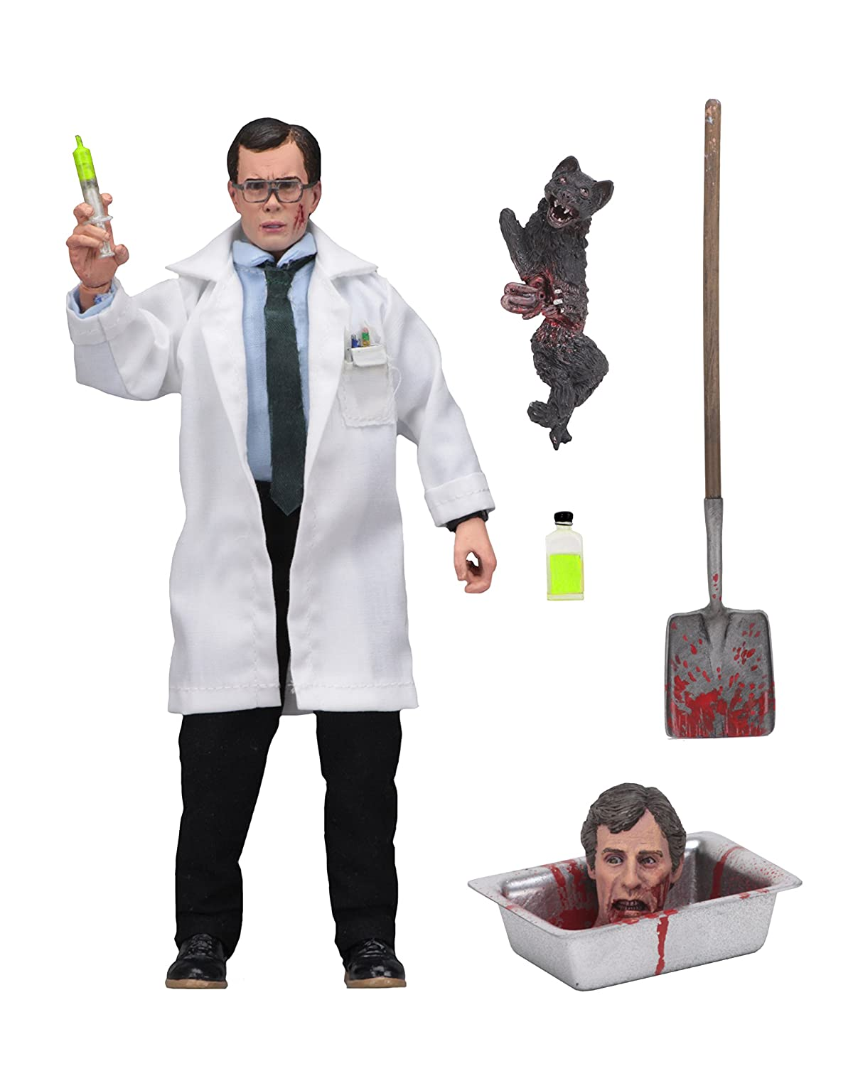 "NECA Re-Animator 8"" Clothed Action Figure-Herbert West 14971"