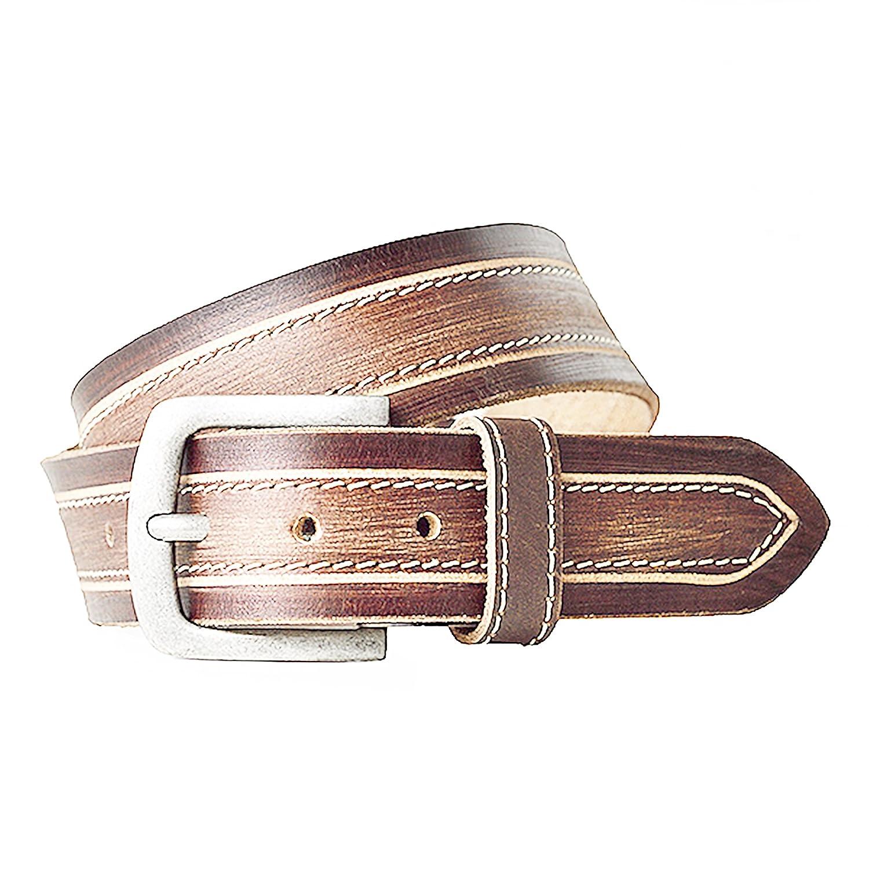 Hombre Cinturón de cuero), color marrón, pantalones de traje Jeans ...