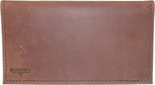 product image for Boston Leather Distressed Copper Explorer Leather Checkbook Cover