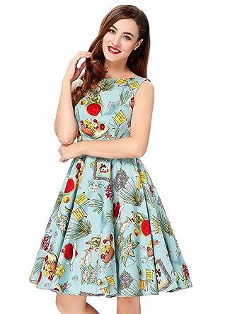bce2b0345df716 GRACE KARIN Damen 50s Retro Vintage Rockabilly Kleid Festliches Kleid  Partykleider Cocktailkleider: Amazon.de: Bekleidung