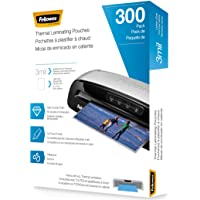 Fellowes Thermal Laminating Pouches, Letter Size Sheets, 3mil, 300 Pack, Clear (5247101)