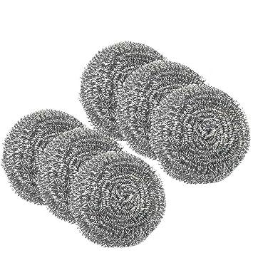 Esponja de acero inoxidable para limpiar ollas y sartenes de cocina, 40 g: Amazon.es: Jardín