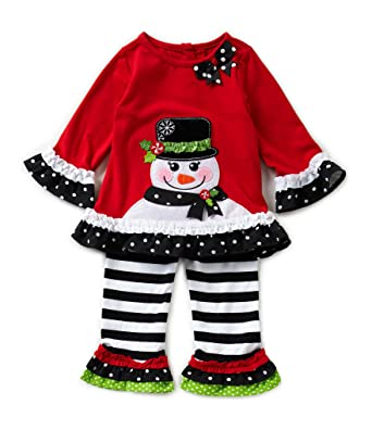 50dc830614cf Amazon.com: Rare Editions Girls Snowman Holiday Outfit (2t-6x) (6x ...
