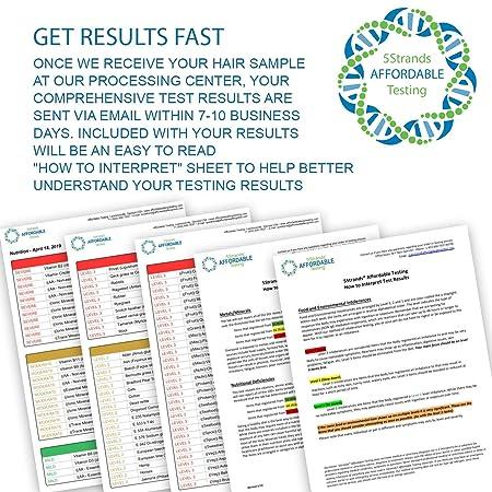 5Strands | Home Test Kit | 200 Food & 100 Environmental Intolerance Items  Tested | Bonus 115