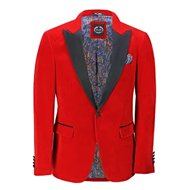 b54360e654d Mens Velvet Tuxedo Dinner Jacket Retro Smoking Coat Formal Tailored Fit  Blazer[BLZ-Dinner