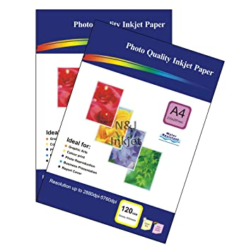 5084905ab0 100 Sheets of 120gsm A4 Single-Sided Glossy Photo Paper for Inkjet Printers  - Ideal