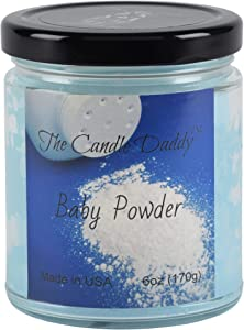 The Candle Daddy Richly Scented Candles - 6oz Aromatherapy Jar Candle (Baby Powder) Made in USA