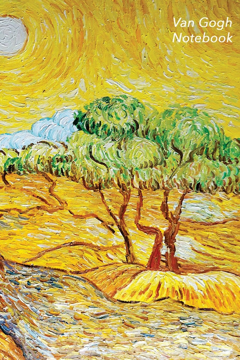 Van Gogh Notebook: Olive Trees With Yellow