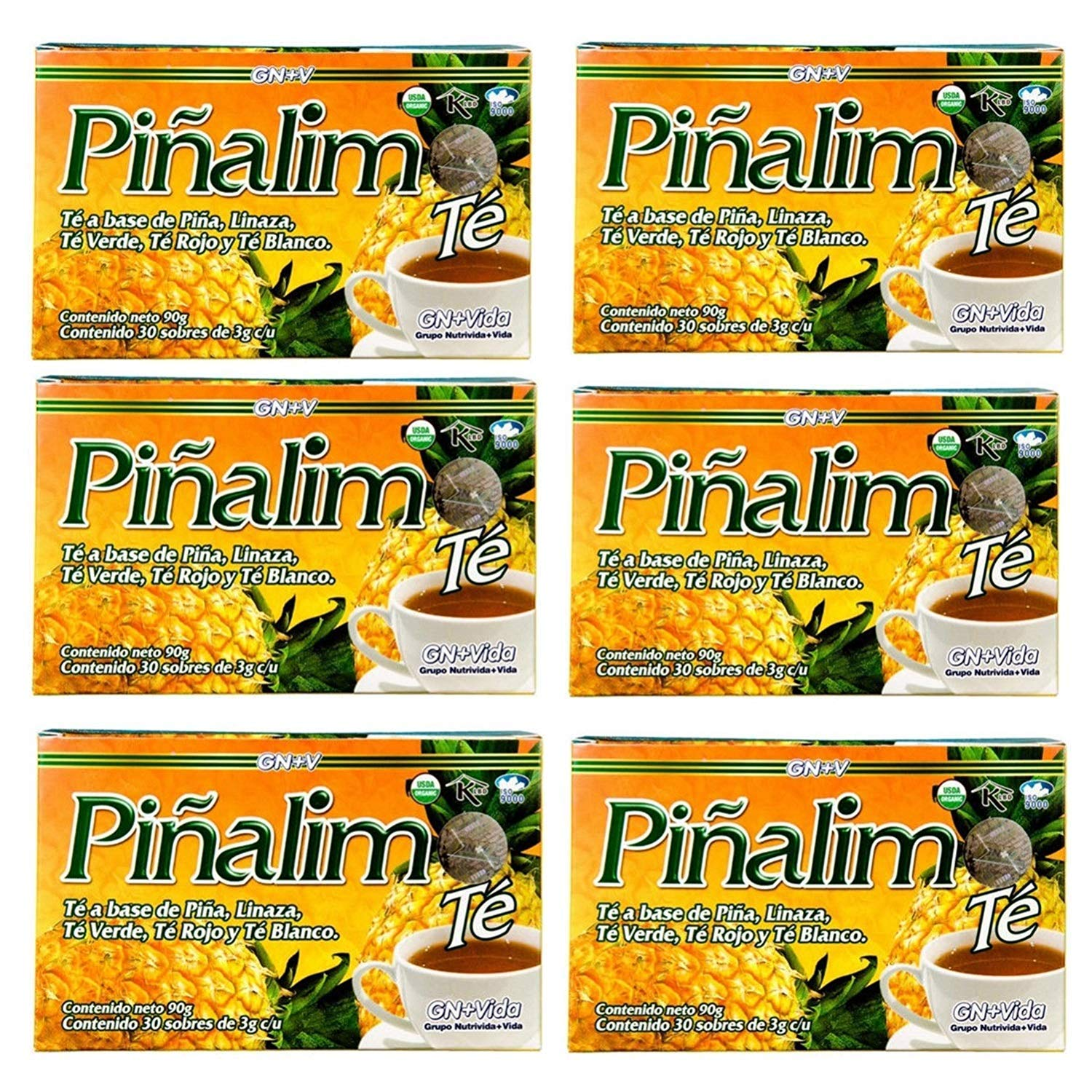 6 Boxes Te Pinalim Tea GN Vida Weight Loss Tea Diet 180 Day Supply