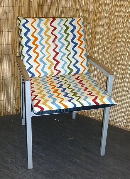 Amazon.com: Zippy Low Back Chair Cushion - Multi Colour Zig ...