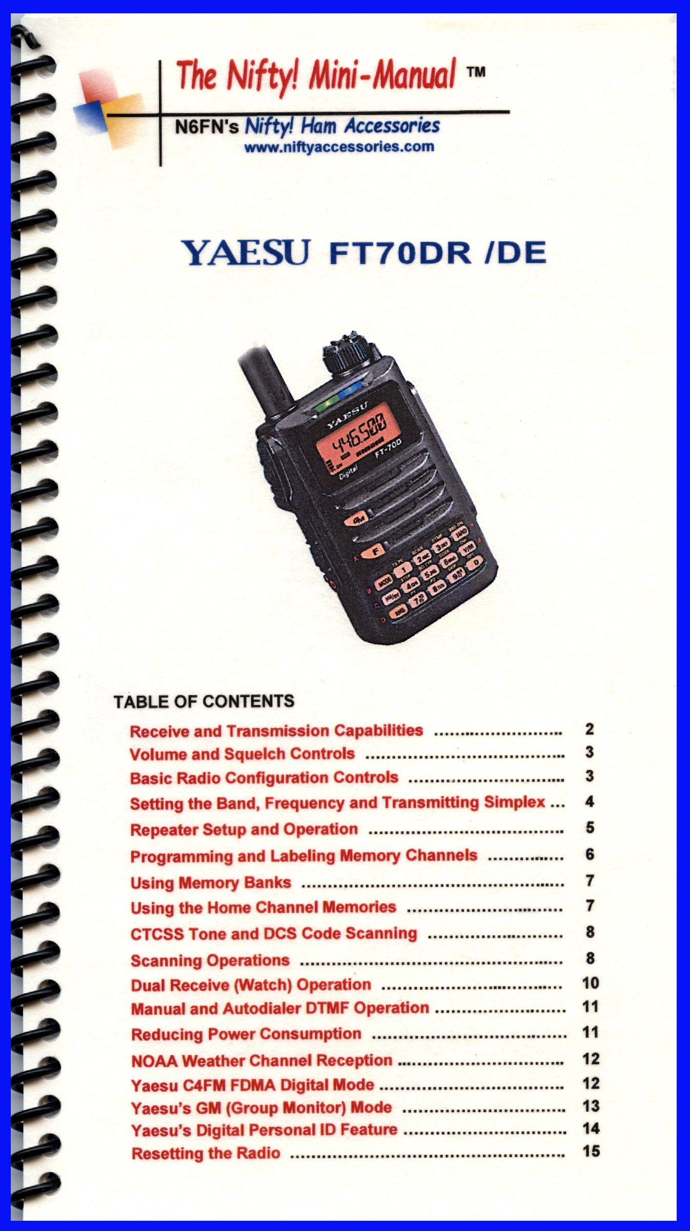 yaesu ft 70dr mini manual by nifty accessories nifty accessories rh amazon com Yaesu Ham Radio Sales kenwood ham radio service manuals