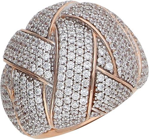 Esprit Damen Ring Edelstahl Rosé Lilaia Zirkonia ESRG02291C1