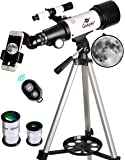 Gskyer Telescope, 70mm Aperture 400mm AZ Mount Astronomical Refracting Telescope for Kids Beginners - Travel Telescope…