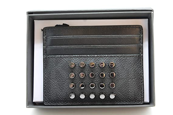 48073dfcc5bb Michael Kors Jet Set Mens Card Case Holder Black Stud Grommet at ...
