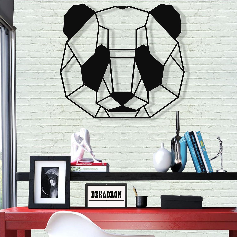 /Panda/ DEKADRON D/écoration Murale en M/étal/ /Mural 3D Silhouette D/écoration Murale en M/étal Home Office D/écoration Chambre /à Coucher Salle de S/éjour D/écor Sculpture 18