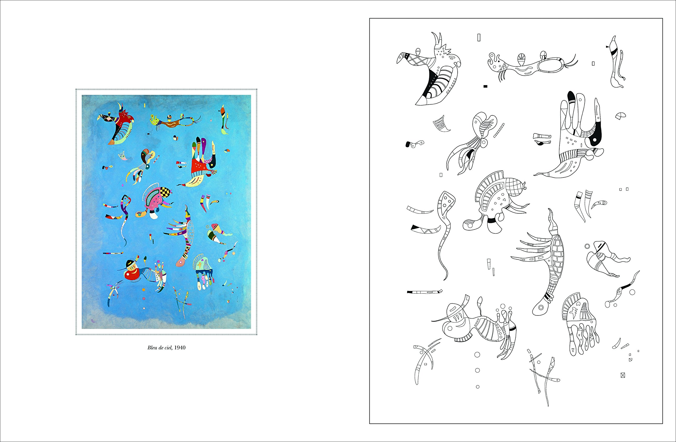 Amazon.fr - Cahier de coloriages Kandinsky - Collectif - Livres