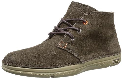f882c7f5cb75d crocs Men s Thompson Desert M Espresso and Khaki Leather Boots - M11 (14669- 22Y