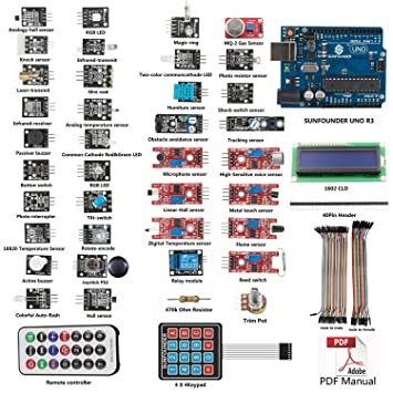 sunfounder basic sensor kit for arduino uno r3 mega2560 mega328 nano rh amazon co uk arduino uno manual download arduino uno manual portugues