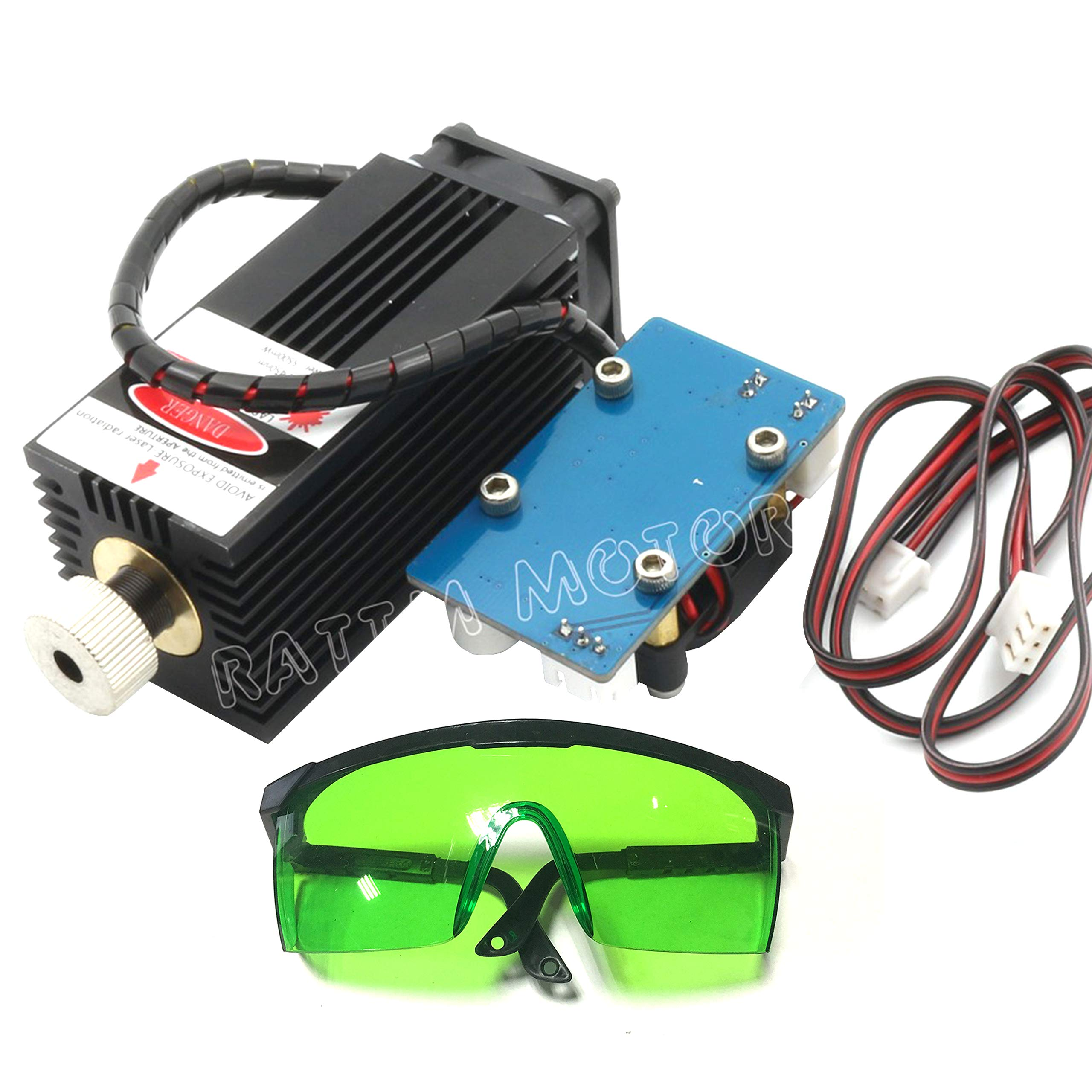 3 Axis CNC 3018 PRO GRBL DIY Mini Engraving Milling Rounter Laser Machine Working Area 30x18x4.5cm + 5500mW 450nW Laser with Protective Glasses