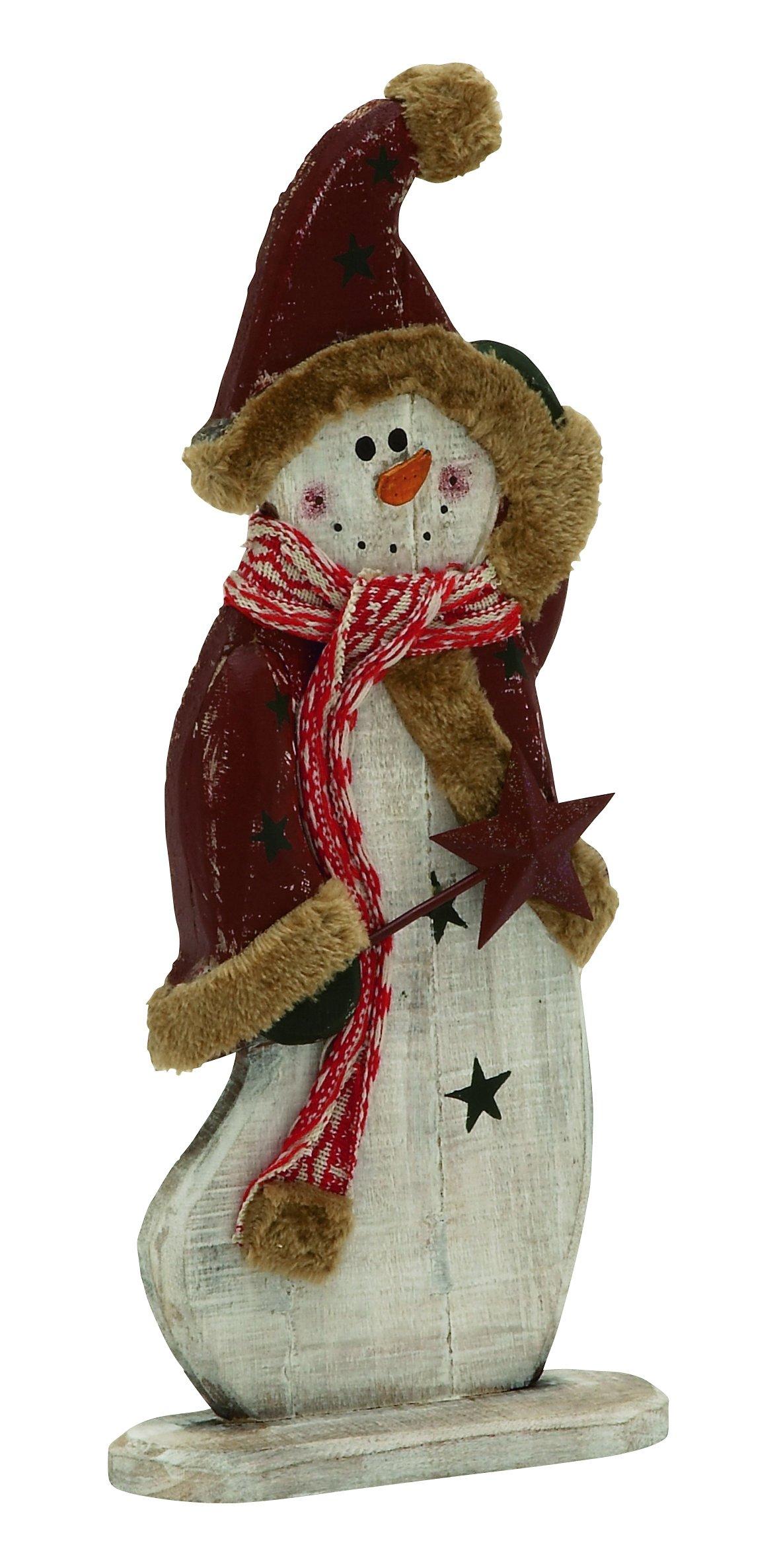 Plutus Brands Charismatic Wood Metal Snowman