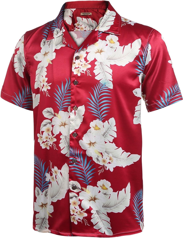 Camiseta de manga corta para hombre, diseño floral conde árboles, motivos Hawaianos, de Hotouch