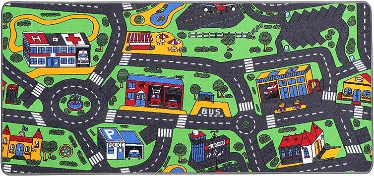Ideen in Textil Tapis de Jeux CHANTIER 0,95m x 2,00m Tapis Circuit Voiture Tapis Sol Enfant de Haute Qualit/é Primaflor Tapis de Jeu Enfant