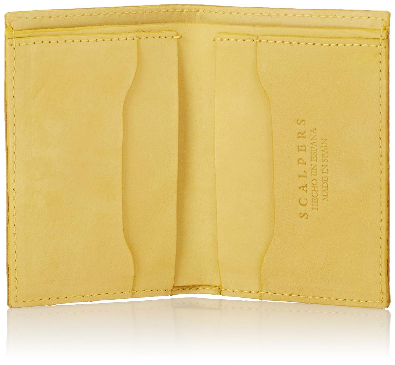 Scalpers Waxed Wallet 03:Yellow, Cartera para Hombre, UNICA: Amazon.es: Ropa y accesorios