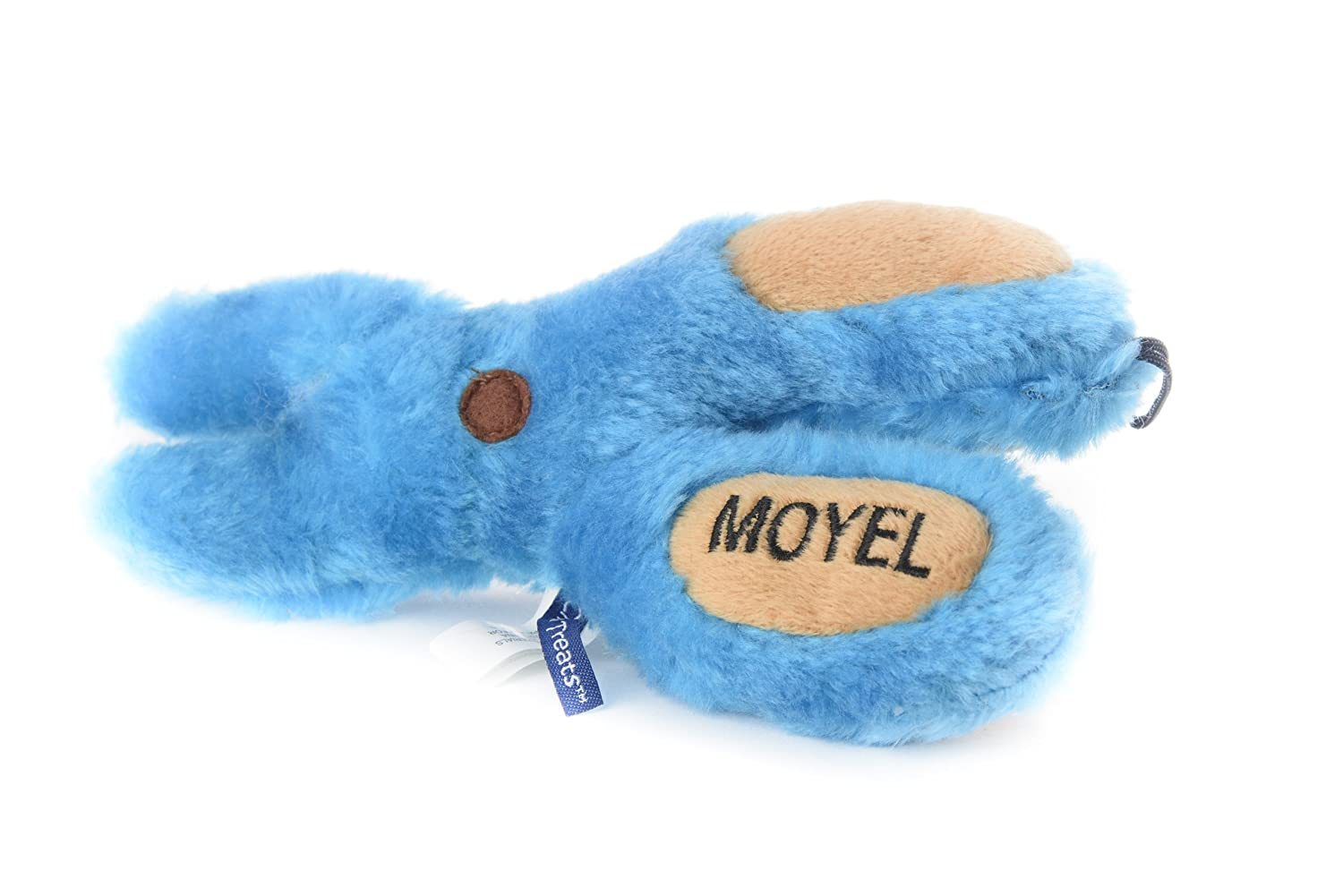 Copa Judaica Chewish Treat Moyle Scissor Squeaker Plush Dog Toy 8 by 7.5-Inch Multicolor
