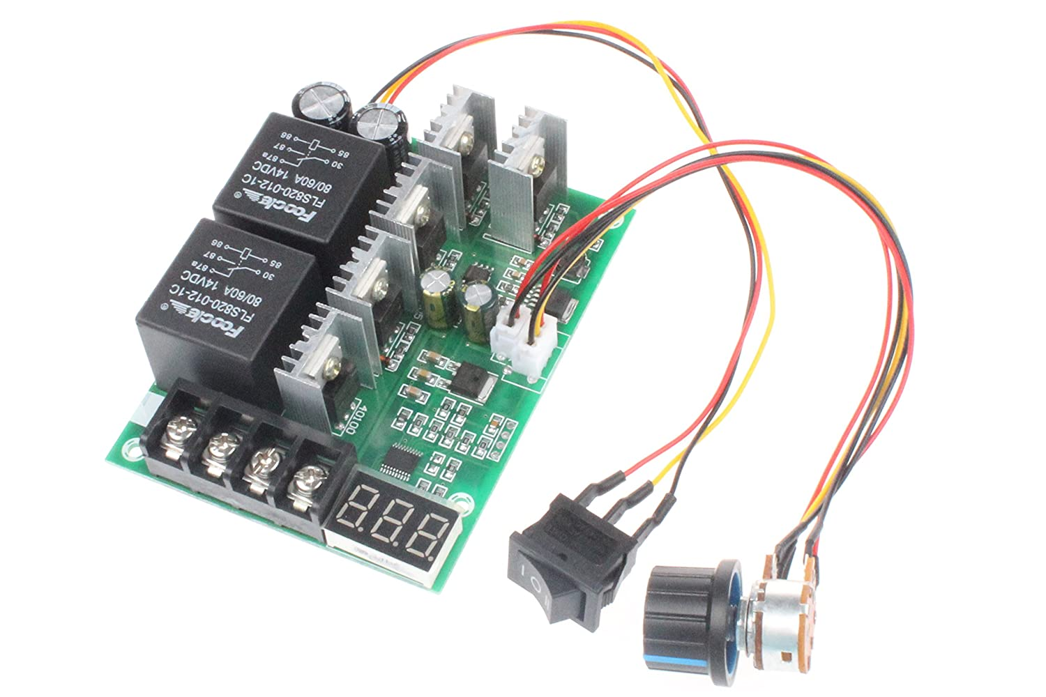 Programable Reversible PWM Control Motor Speed Controller Verakee ZYuhong-DC Motor DC 10-50V Speed Controller Small Size 100A 3000W