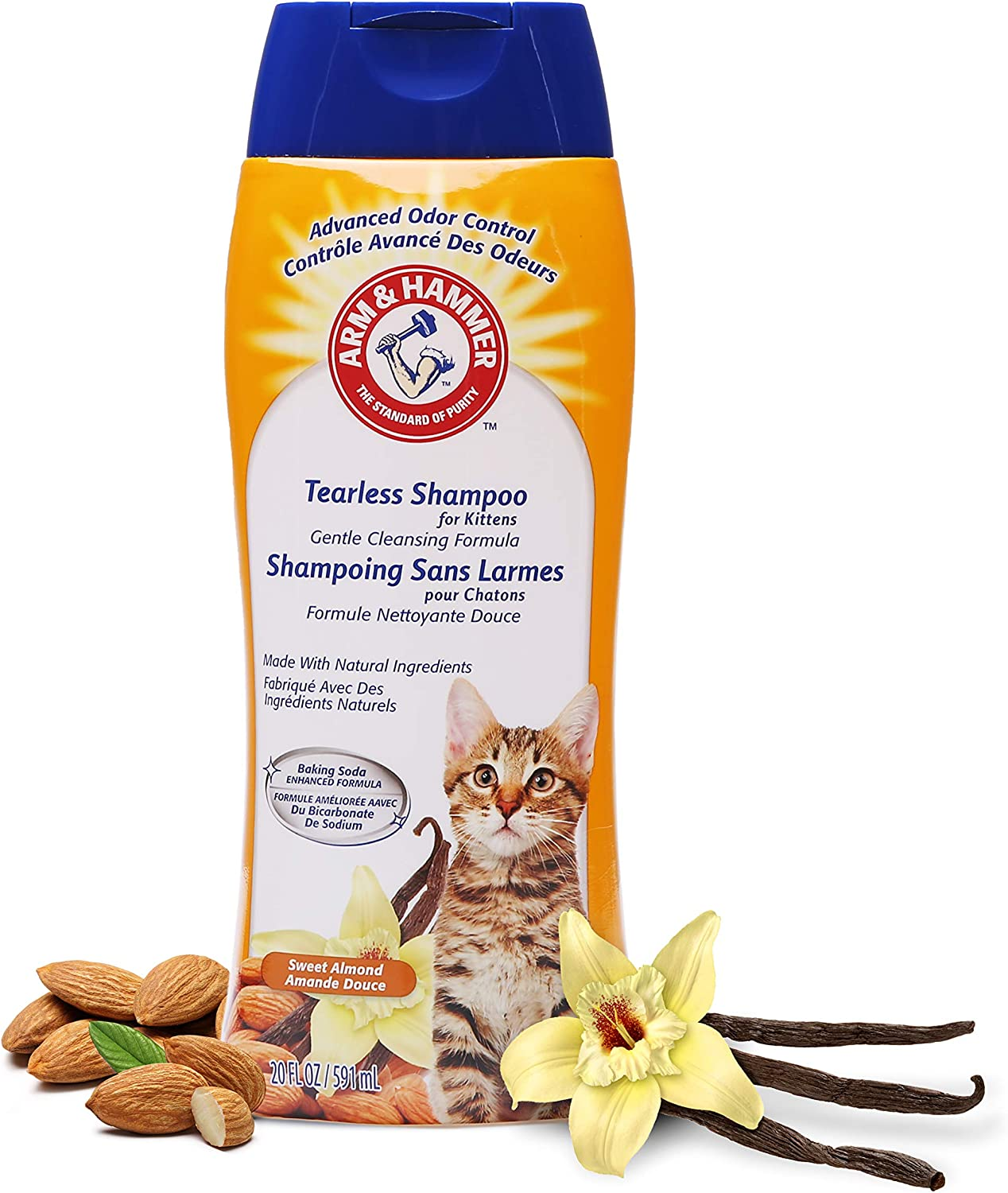 Arm & Hammer Deodorizing & Dander Reducing Grooming Solution for Cats   Cat Shampoo and Foam   Shampoos for Cats with Baking Soda