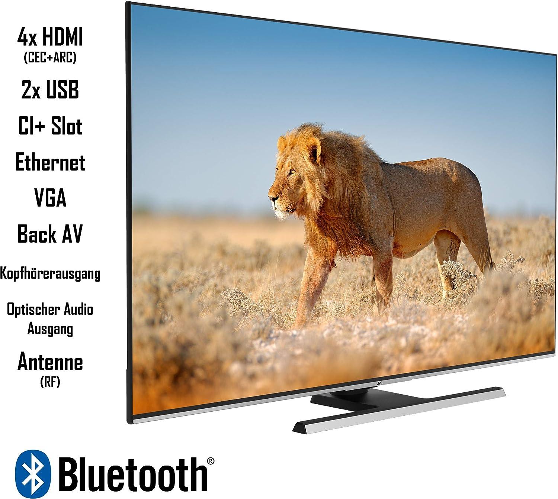 55 Zoll Fernseher Smart TV inkl. Prime Video // Netflix // YouTube, 4K UHD mit Dolby Vision HDR // HDR 10 + HLG, Triple Tuner JVC LT-55V65LUA 140 cm