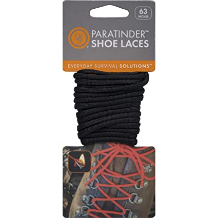 Amazon UST ParaTinder Fire Tinder Shoe Laces 5 Foot Black