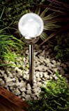 Gardman Cole & Bright Solar Ice Orb Black Nickel Border Light