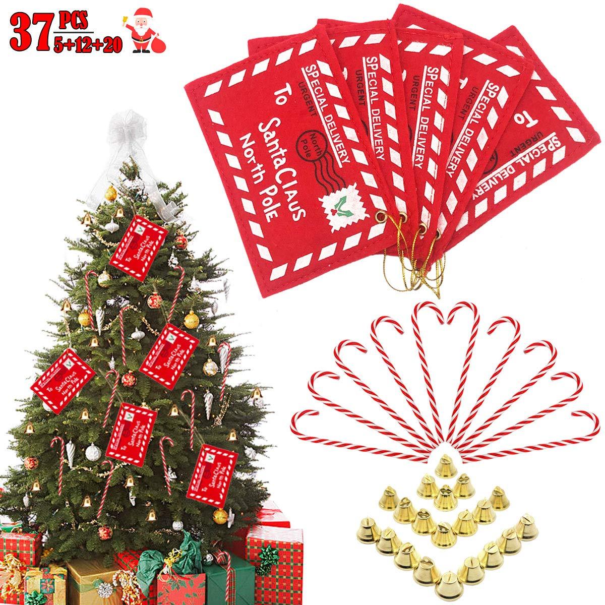 Amazon Com Christmas Envelopes Tree Ornaments Kit 5 Pcs