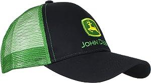 John Deere Mens Logo Contrast Mesh Back Core Baseball Cap