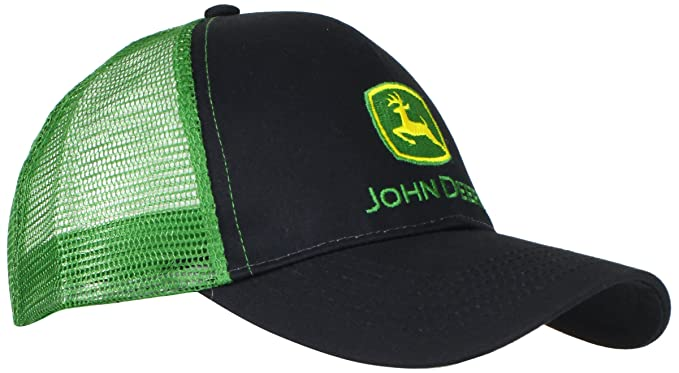0c2d65fd1d4 John Deere Embroidered Logo Mesh Back Baseball Hat - One-Size - Men s -  Black