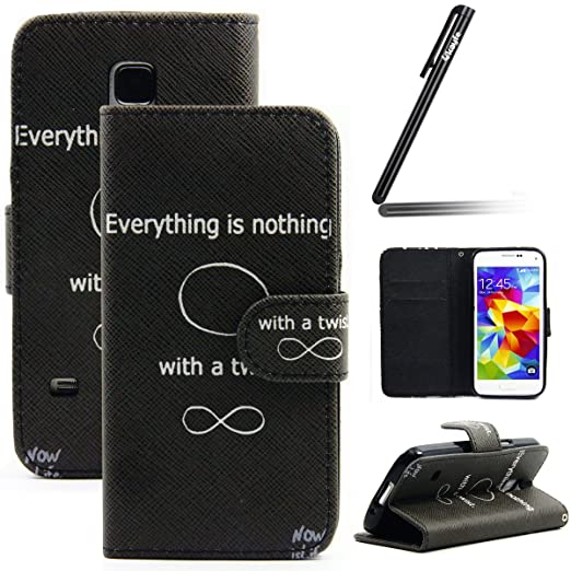 53 opinioni per Samsung Galaxy S5 Cassa- Ukayfe Premium PU Leather Wallet Case Cover Magnetico