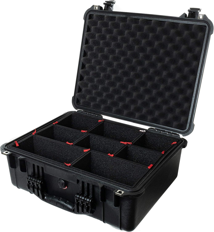 CVPKG Presents Black Pelican 1550 case with TrekPak Divider System /& 2 TSA Locks.