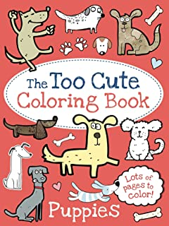 the too cute coloring book puppies - Cute Coloring Books