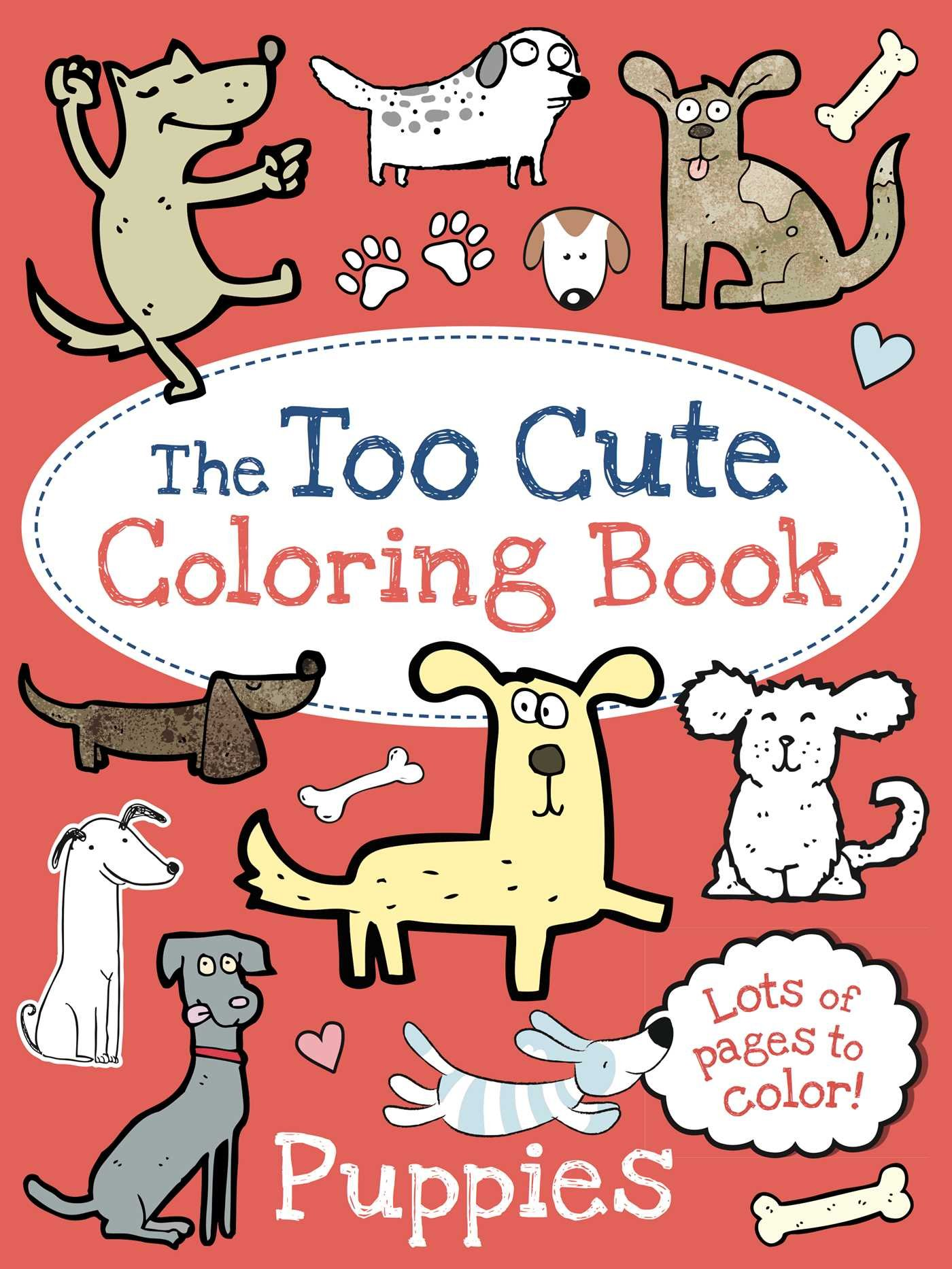 Too Cute Coloring Book Puppies product image