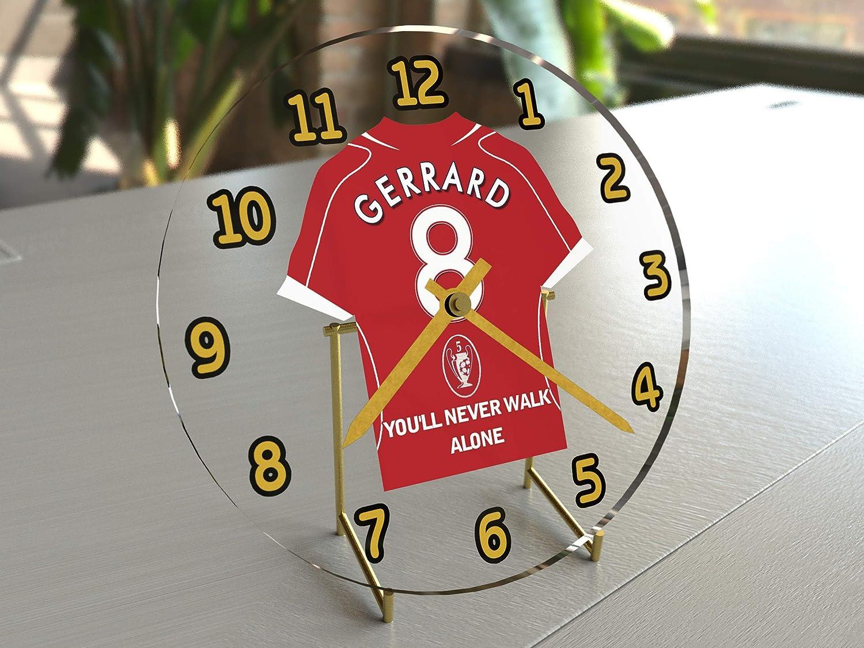 STEVEN GERRARD LIVERPOOL FC HORLOGE DE TABLE EDITION LIMITEE LES LEGENDES DU FOOTBALL