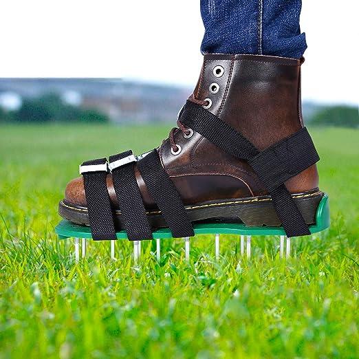 Eeieer Rasenbelüfter Rasenlüfter Vertikutierer Rasen Vertikutierer Rasen Nagelschuhe Für Dein Rasen Oder Hof Garten