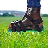 EEIEER Aireador de Cesped Zapatos, Zapatos para Airear el Césped Escarificador Cesped Zapatos Jardín de Césped Spikes…