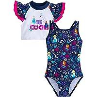 Disney Frozen Swimsuit and Rash Guard Set for Girls